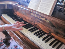 Playing Annie Bidwell's piano