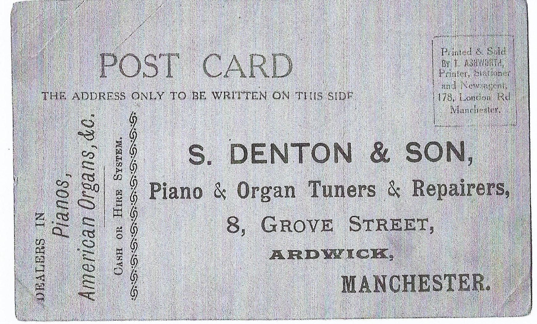 Samuel denton's business card